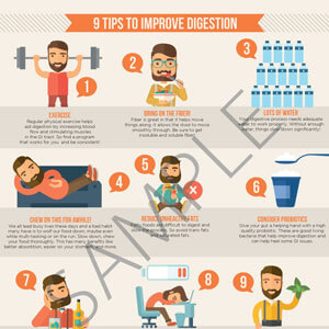 9 Tips Digestion Infographic